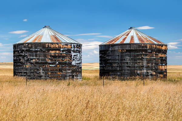 Montana Photograph - Weathered Old Bins by Todd Klassy