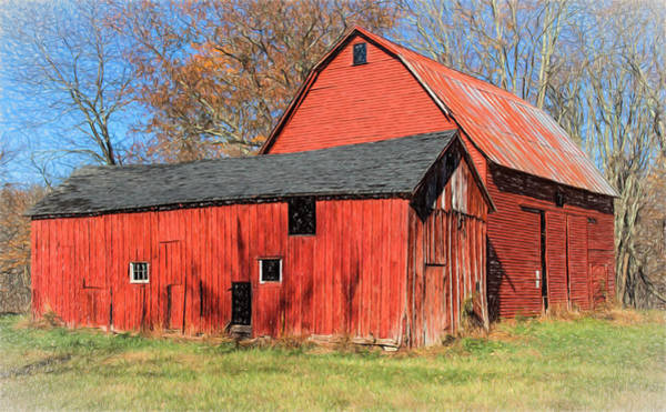 Painting - Weathered Red Barn by David Letts