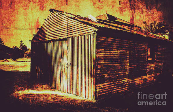 Neglected Wall Art - Photograph - Weathered Vintage Rural Shed by Jorgo Photography - Wall Art Gallery