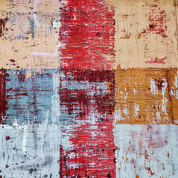 Crossing Wall Art - Photograph - Weathered Wood Colorful Crossing 1 Of 3 by Carol Leigh