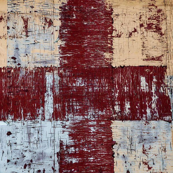 Crossing Wall Art - Photograph - Weathered Wood Colorful Crossing 2 Of 3 by Carol Leigh