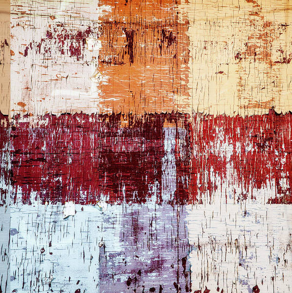 Crossing Wall Art - Photograph - Weathered Wood Colorful Crossing 3 Of 3 by Carol Leigh