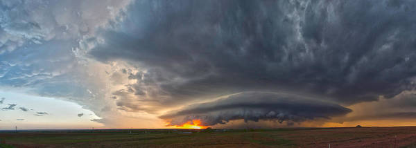 Photograph - Weatherford Oklahoma Sunset Supercell by James Menzies