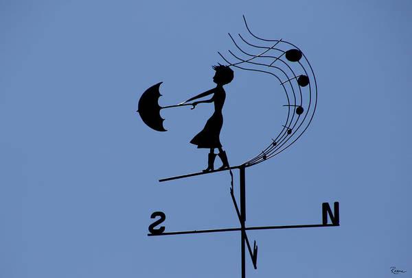 Weathergirl Art Print