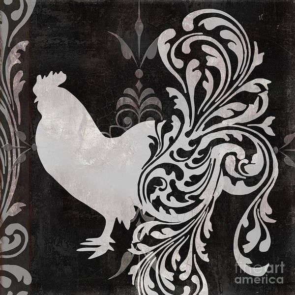 Roosters Painting - Weathervane I by Mindy Sommers