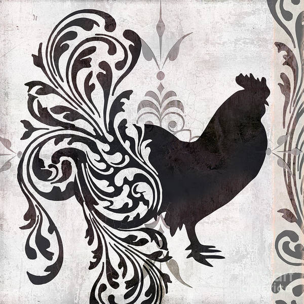 Roosters Painting - Weathervane II by Mindy Sommers