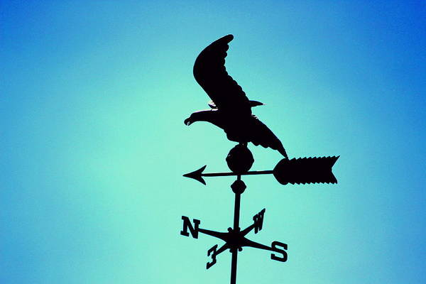 Photograph - Weathervane In Summer Blues by Colleen Cornelius