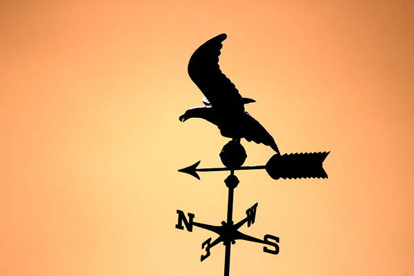 Photograph - Weathervane In Sunset Colors by Colleen Cornelius
