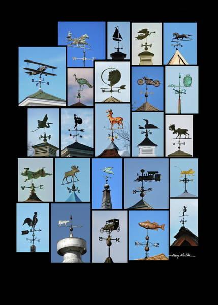 Wind Vane Digital Art - Weathervanes by Harry Moulton