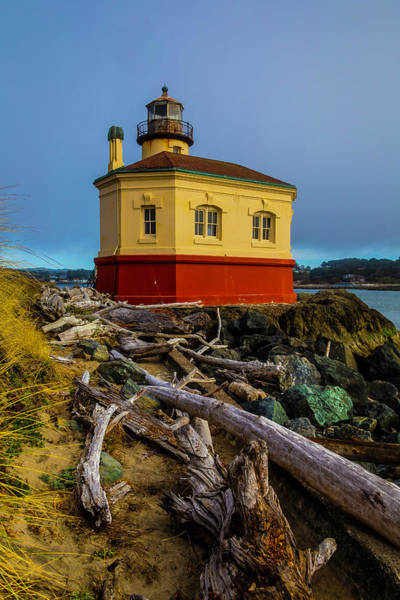 Wall Art - Photograph - Weatherworn Coquille River Lighthouse by Garry Gay