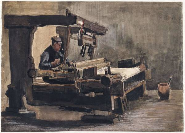 Painting - Weaver Nuenen, December 1883 - August 1884 Vincent Van Gogh 1853 - 1890 2 by Artistic Panda