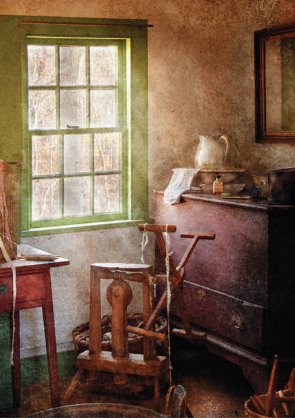 Photograph - Weaving - In The Weavers Cottage by Mike Savad
