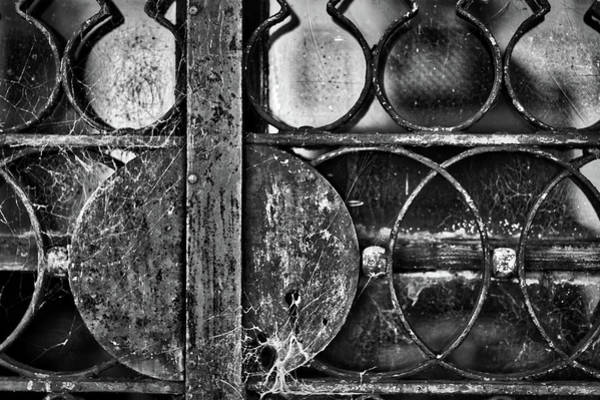 Photograph - Web Covered Door Lock - La Recoleta Cemetery by Stuart Litoff