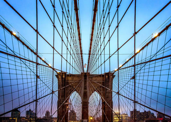 Suspension Bridge Photograph - Web Of Passion by Az Jackson