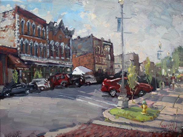 Tonawanda Wall Art - Painting - Webster Street North Tonawanda by Ylli Haruni