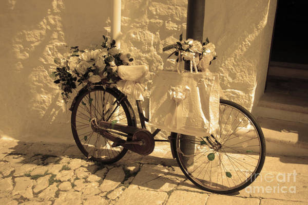 Photograph - Wedding Bike by Frank Stallone