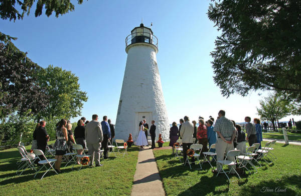Photograph - Wedding By The Lighthouse by Trina Ansel