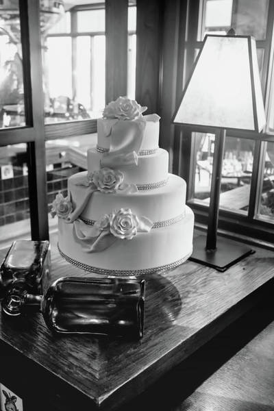 Photograph - Wedding Cake Bw Series 0956 by Carlos Diaz
