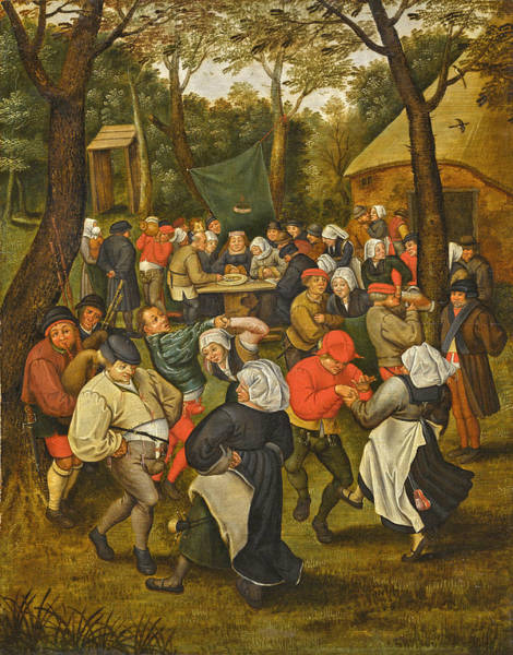 Wall Art - Painting - Wedding Dance In The Open Air by Pieter Brueghel the Younger