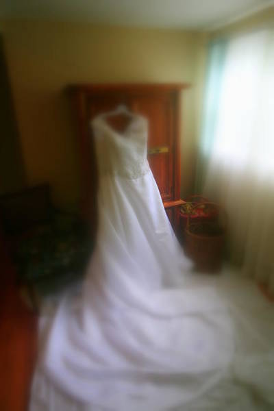 Wedding Dress In Waiting Art Print