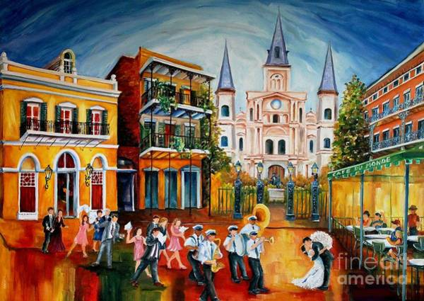 Wall Art - Painting - Wedding New Orleans' Style by Diane Millsap