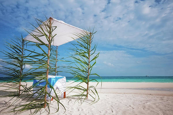 Photograph - Wedding Tent On The Beach by Jenny Rainbow
