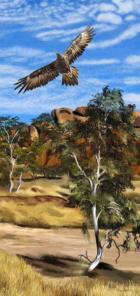 Samantha Painting - Wedge Tailed Eagle by Samantha Tro