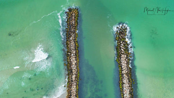 Photograph - Weekapaug Breachway by Michael Hughes