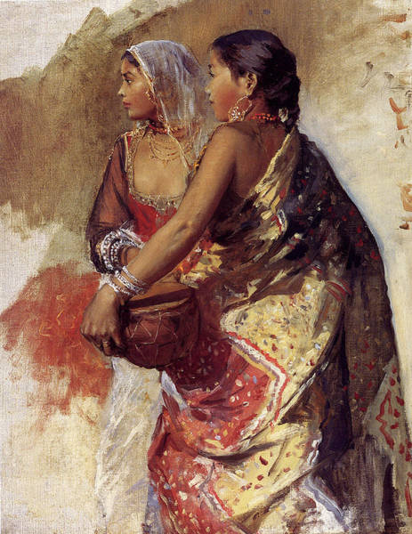 Wall Art - Painting - Weeks Edwin Sketch Two Nautch by Eastern Accent