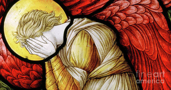 Wall Art - Glass Art - Weeping Angel, 1886 by Carl Almquist