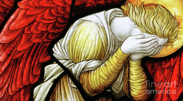 Wall Art - Glass Art - Weeping Angel by Carl Almquist