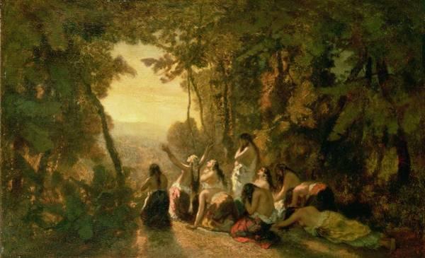 Hebrew Painting - Weeping Of The Daughter Of Jephthah by Narcisse Virgile Diaz de la Pena