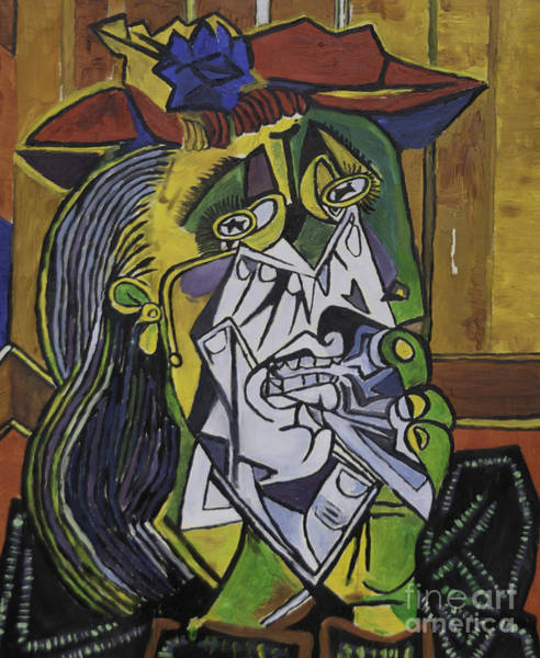 Painting - Picasso's Weeping Woman by James Lavott