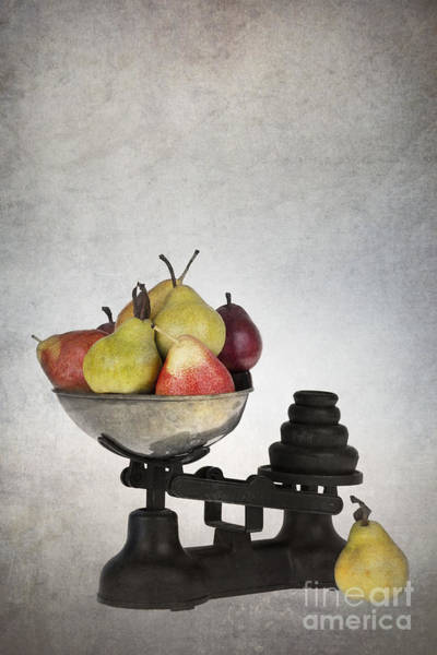Golden Delicious Wall Art - Photograph - Weighing Pears by Jane Rix