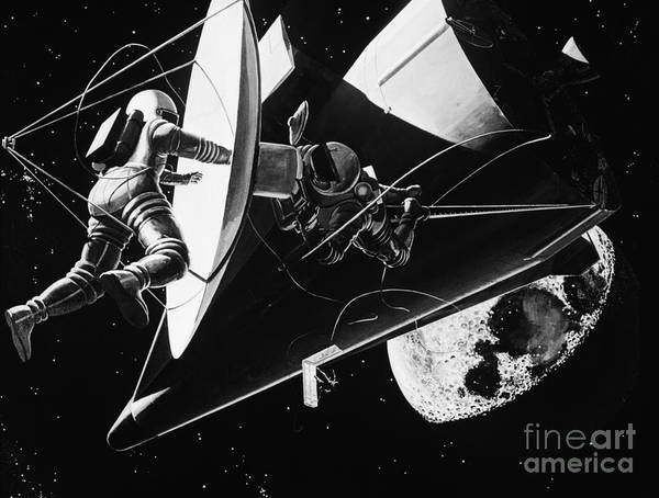 Photograph - Weightless Astronauts by H. Armstrong Roberts/ClassicStock