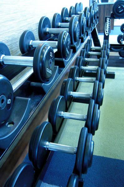Workout Photograph - Weights Vertical by Matt Hanson