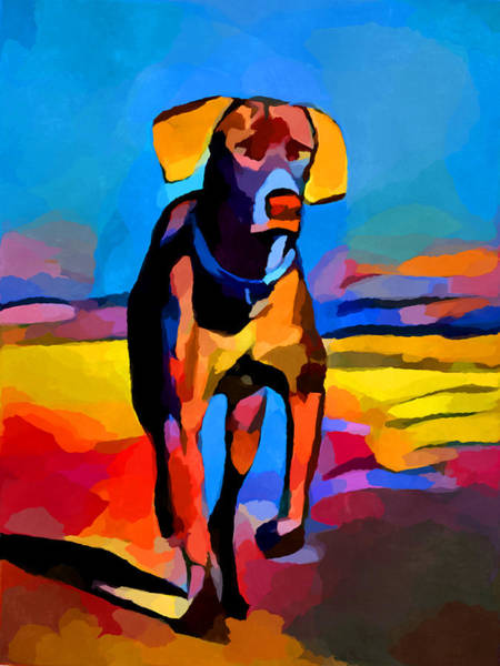 Wall Art - Painting - Weimaraner by Chris Butler