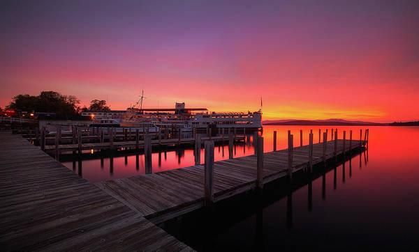 Photograph - Weirs Beach Sunrise by Robert Clifford