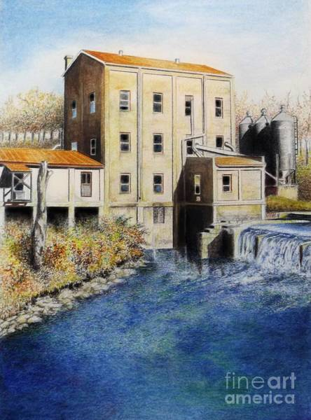 Drawing - Weisenberger Mill by David Neace