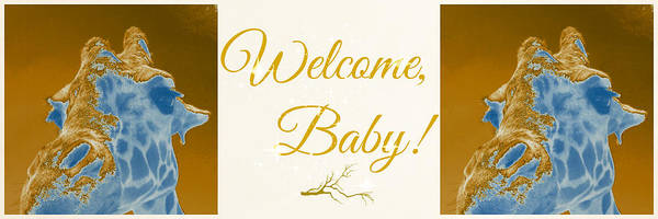 Photograph - Welcome Baby Greeting Card In English by Elyza Rodriguez