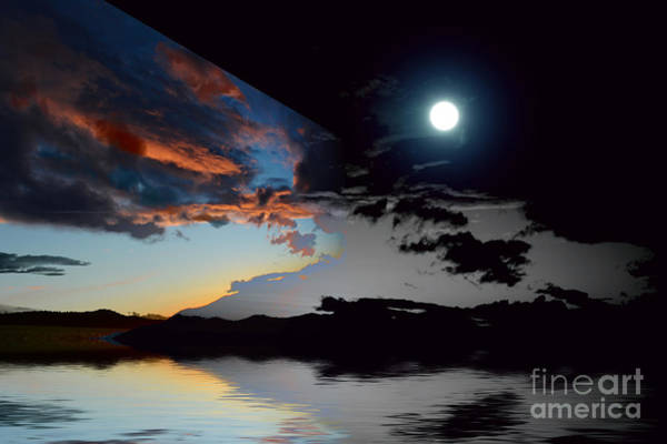 Wall Art - Photograph - Welcome Beach Day And Night 2 by Elaine Hunter