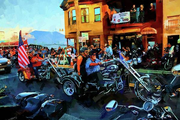 Wall Art - Photograph - Welcome Bikers by Alice Gipson