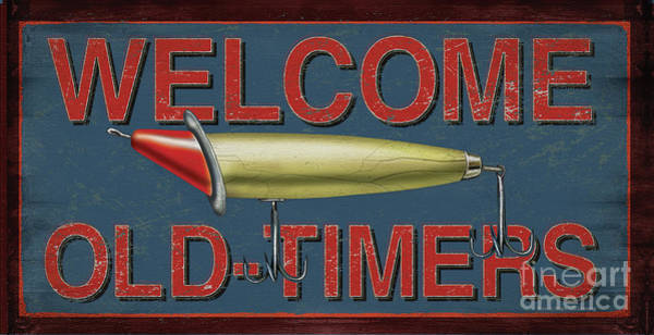 Painting - Welcome Fishing Sign by JQ Licensing