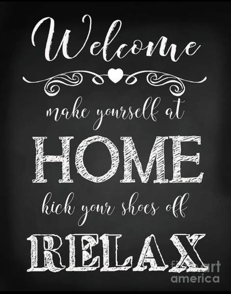 Welcome Sign Digital Art - Welcome Home-a by Jean Plout