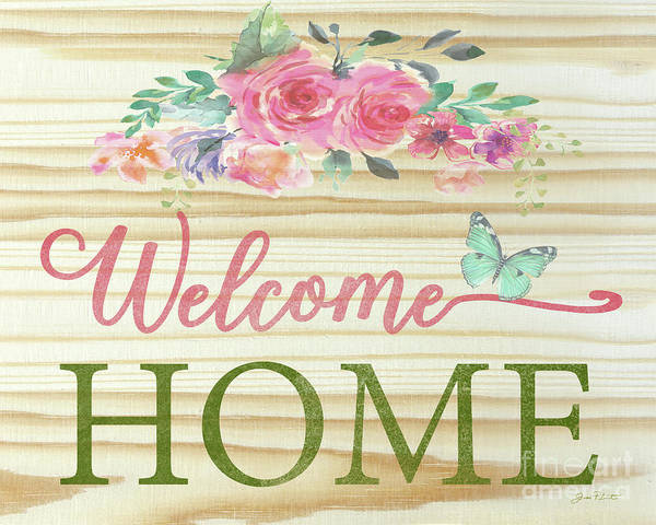 Welcome Sign Digital Art - Welcome Home-c by Jean Plout