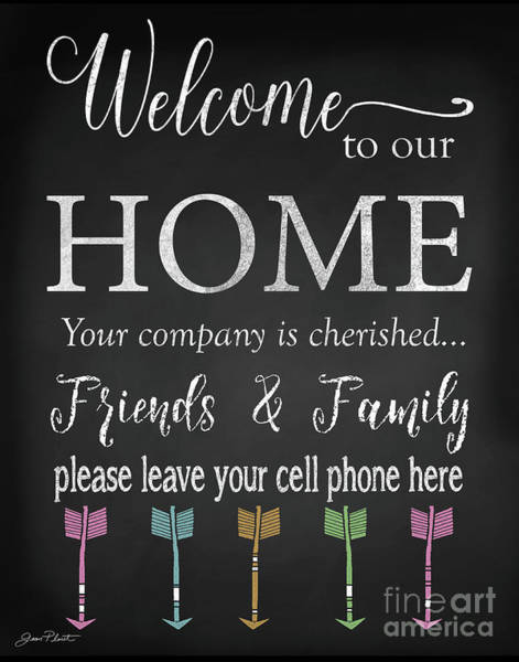Welcome Sign Digital Art - Welcome Home-e by Jean Plout