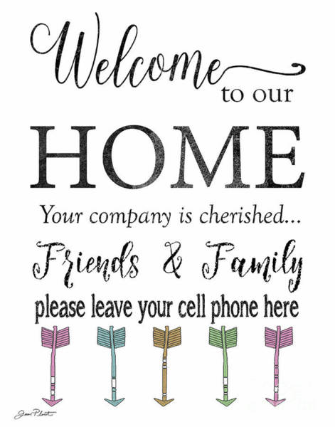 Welcome Sign Digital Art - Welcome Home-f by Jean Plout