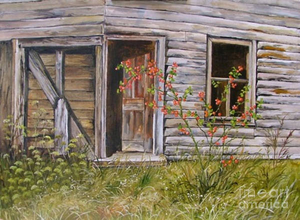 Painting - Welcome Inn by Val Stokes