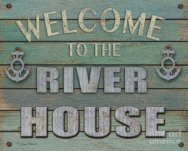 Wall Art - Digital Art - Welcome River House by Jean Plout