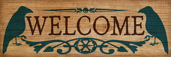 Welcome Sign Digital Art - Welcome Sign by WB Johnston